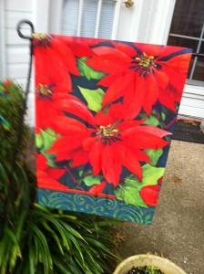 Poinsetta Garden Flag