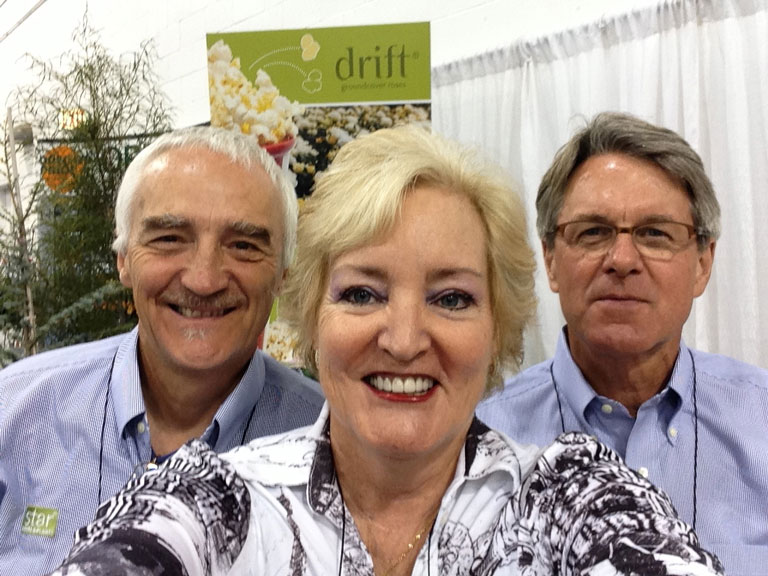 Star Roses & Plants Conard - Pyle Executives pictured with Susan Fox at IGC Show