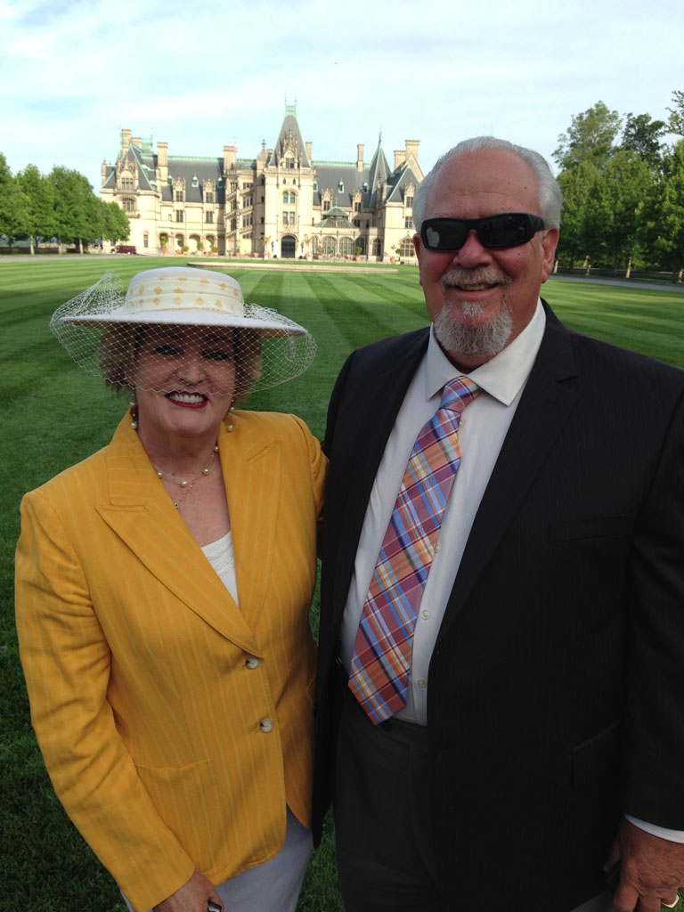 Richard and Susan Fox at The Biltmore Rose Trials