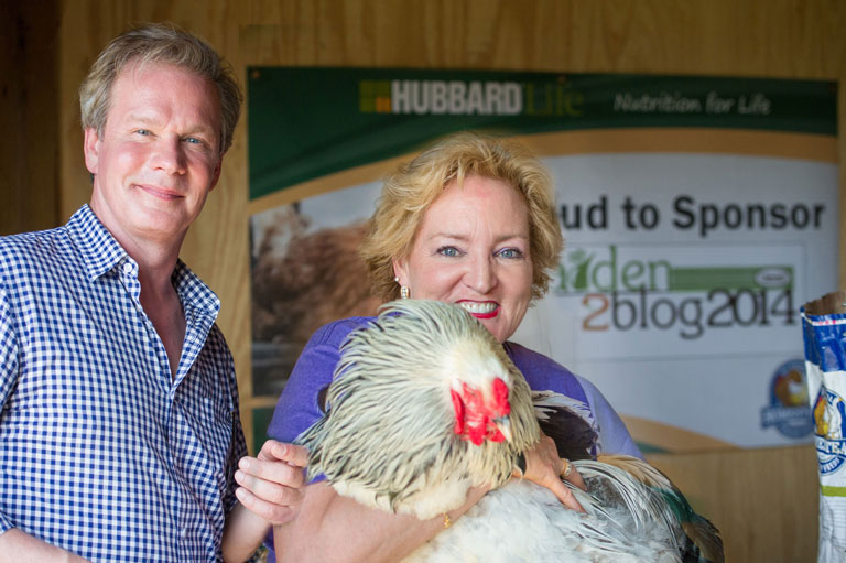 P. Allen Smith & me holding his beautiful rooster Edwin at #G2B14 in Little Rock, AR