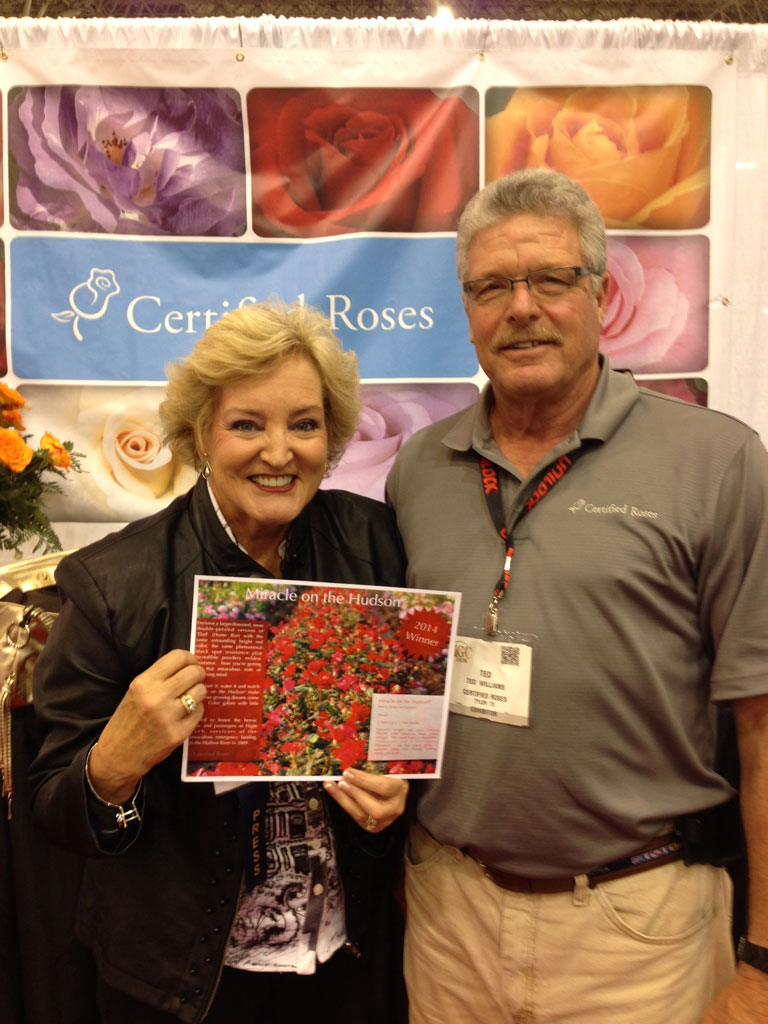 'Miracle on the Hudson' Sales Sheet on Display at Certified Roses with Ted Williams