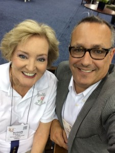 Tony Abruscato, Mr. Chicago Flower & Garden Show and I pause for a minute to take in all the excitement at the great show!