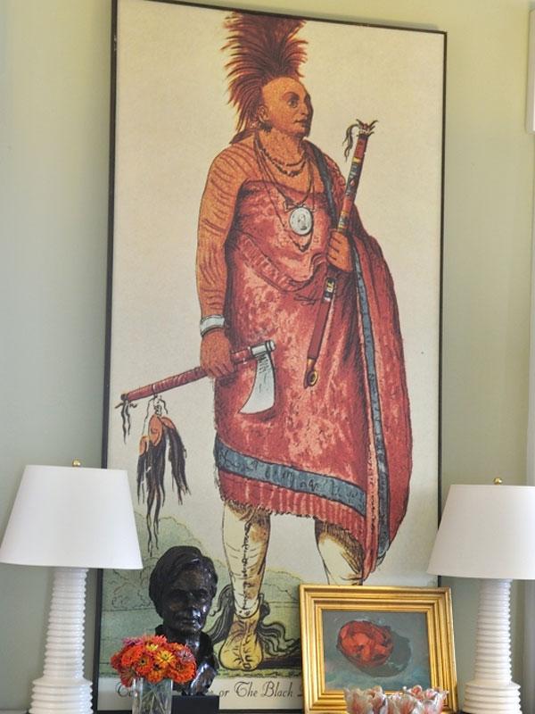 'Black Dog'Shonka Sabe (Black Dog). Chief of the Hunkah division of the Osage tribe