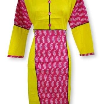 Adhrit Creations Cotton Kurti #11372169