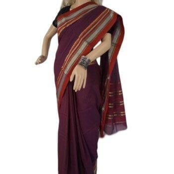 Adhrit Creations Gadwal Cotton Saree #56424654