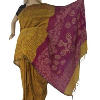 Adhrit Creations Silk Cotton Handloom Saree #85568628