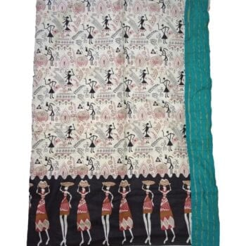Adhrit Creations Printed Malmal Cotton Saree #32896226