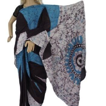 Adhrit Creations Batik Malmal Cotton Saree #68277516
