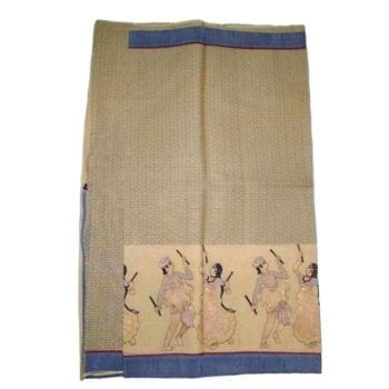 Adhrit Creations Embroided Cotton Saree #29384381