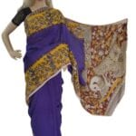 Adhrit Creations Cotton Printed Kalamkari Saree #90803757