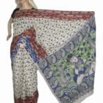 Adhrit Creations Cotton Printed Kalamkari Saree #27370676