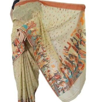 Adhrit Creations Handloom Silk Handloom Saree #80552687
