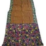 Adhrit Creations Hand Painted Cotton Kalamkari Saree #63292857