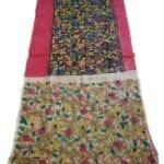 Adhrit Creations Hand Painted Cotton Kalamkari Saree #45895751