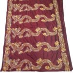 Adhrit Creations Hand Work Designer Sarees Hand Embroidery #17317071