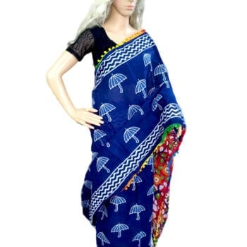 Adhrit Creations Printed Malmal Cotton Saree #14853128