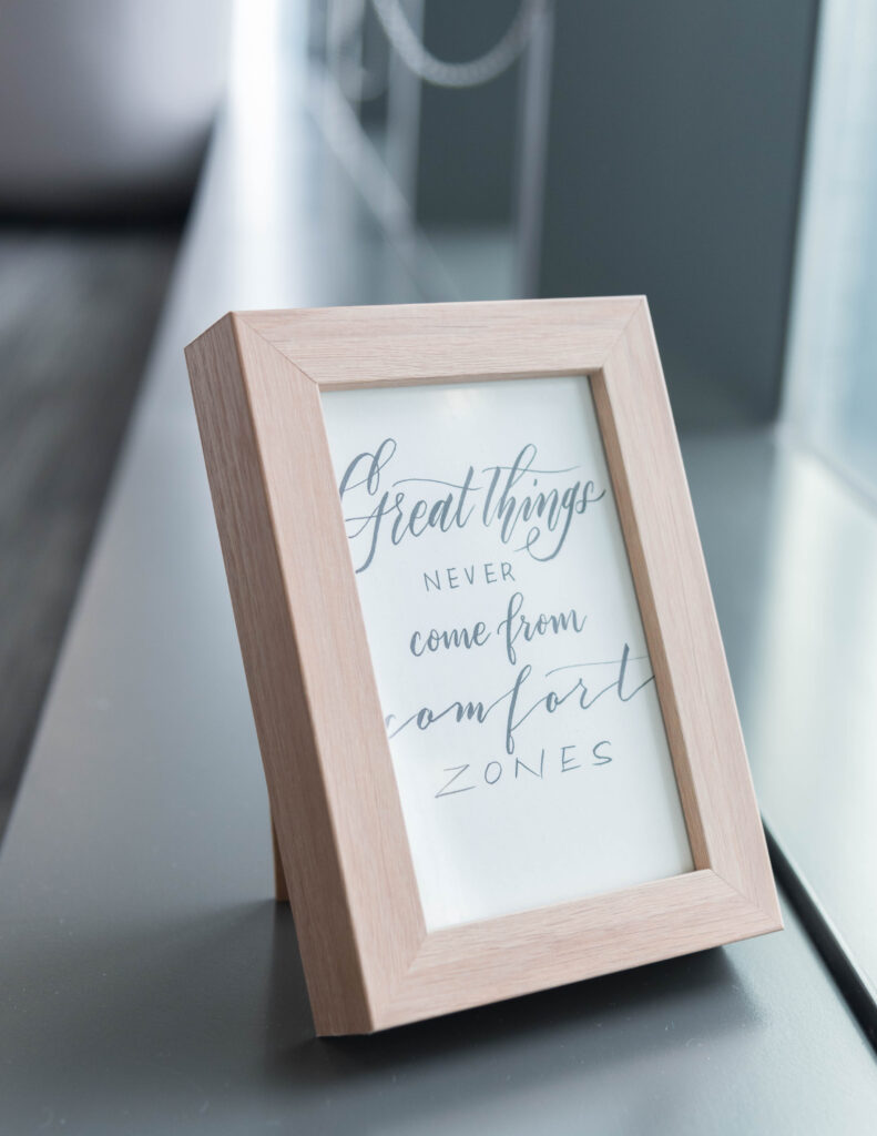 customized framed quote