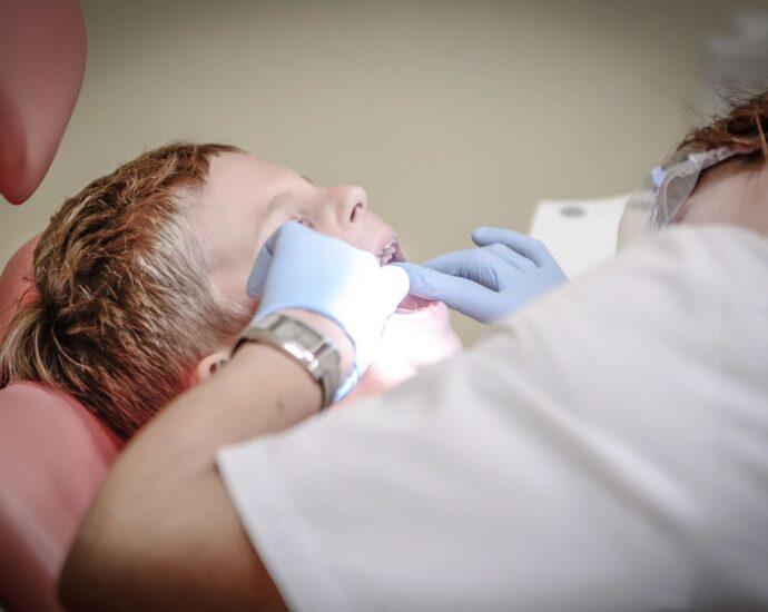 child receiving dental work