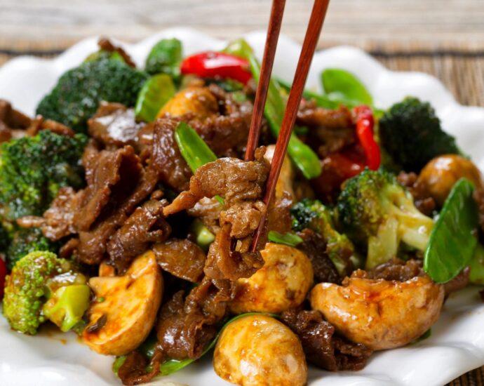 Plate of stir friend food