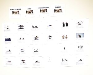 Various exercise descriptions for you to view while you work out.