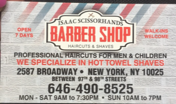 Isaac Scissorhands Barber Shop