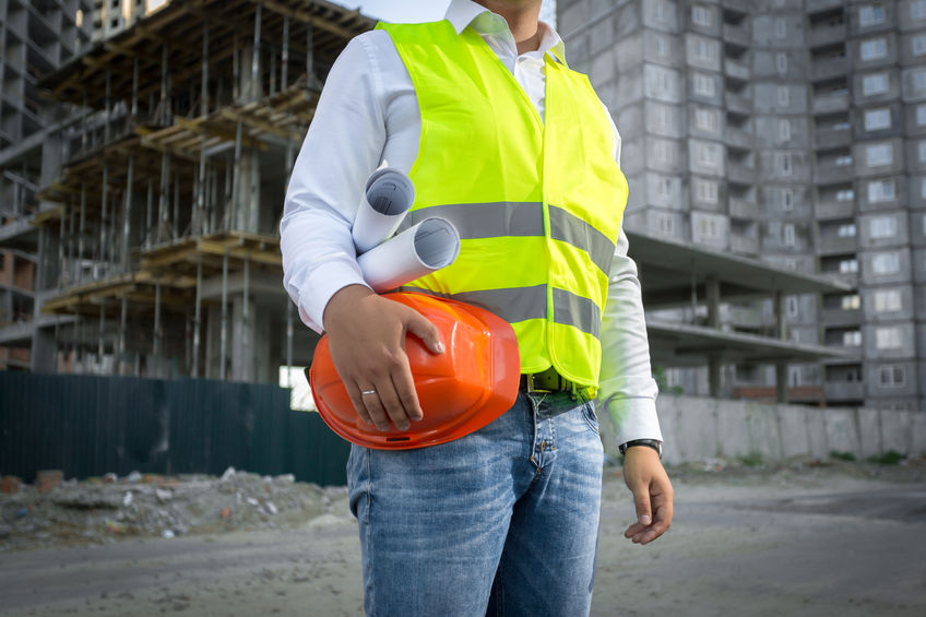 safety first at construction site