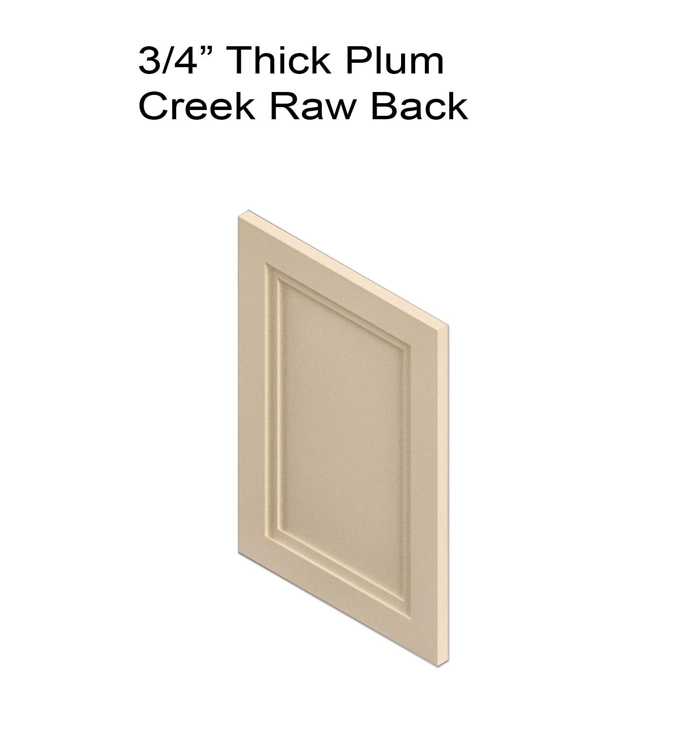 Thick Plum Creek Raw Back