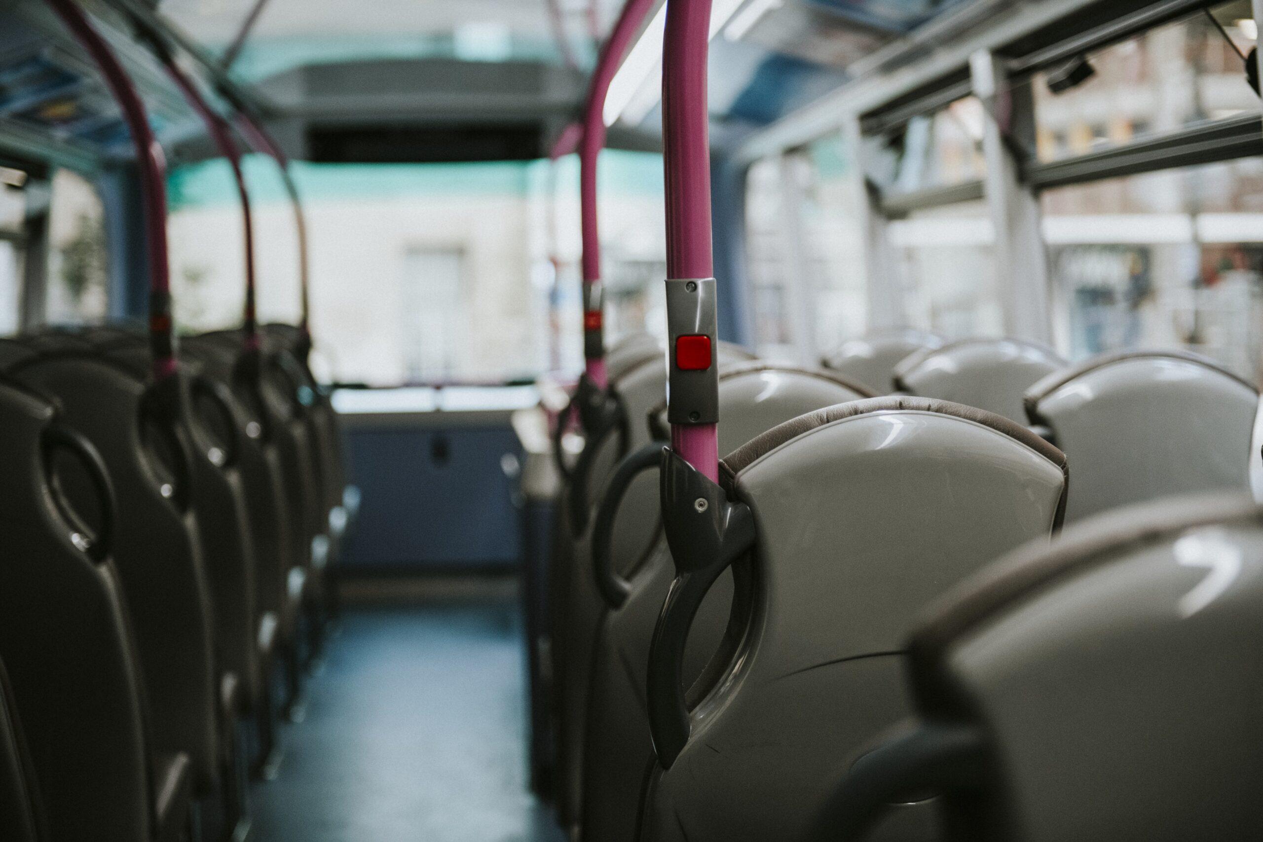 empty city bus