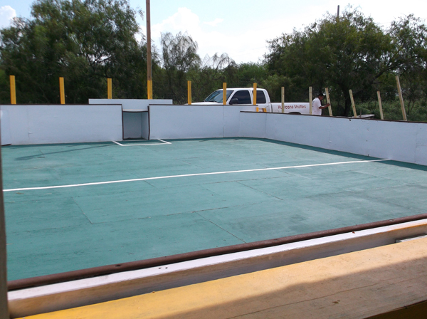 Completion of new indoor soccer field allows La Feria league opportunity for more games.