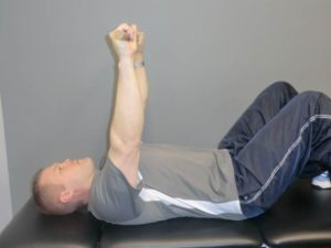 press 2 300x225 Rehab after a Separated Shoulder
