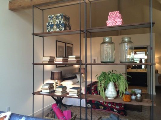 Timber - bookcase divider