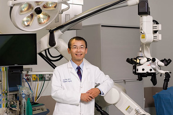 dr. jian shen about to perform endoscopic spine surgery