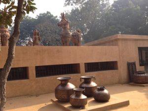 Building on the Sanskriti Kendra grounds