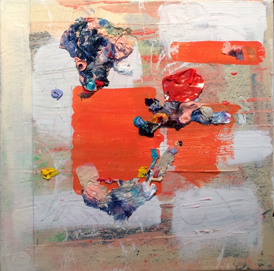 Mixed media painting by Lyn Lettunich
