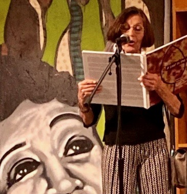 Rose Marie Prins reading from A Leaf in the Wind