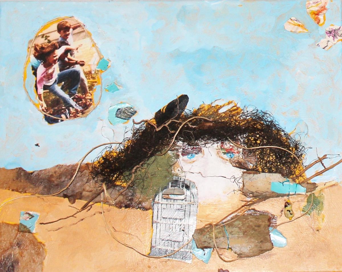 Mixed media painting by Linda Mastry