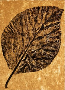 A Leaf in the Wind #11, Teak
