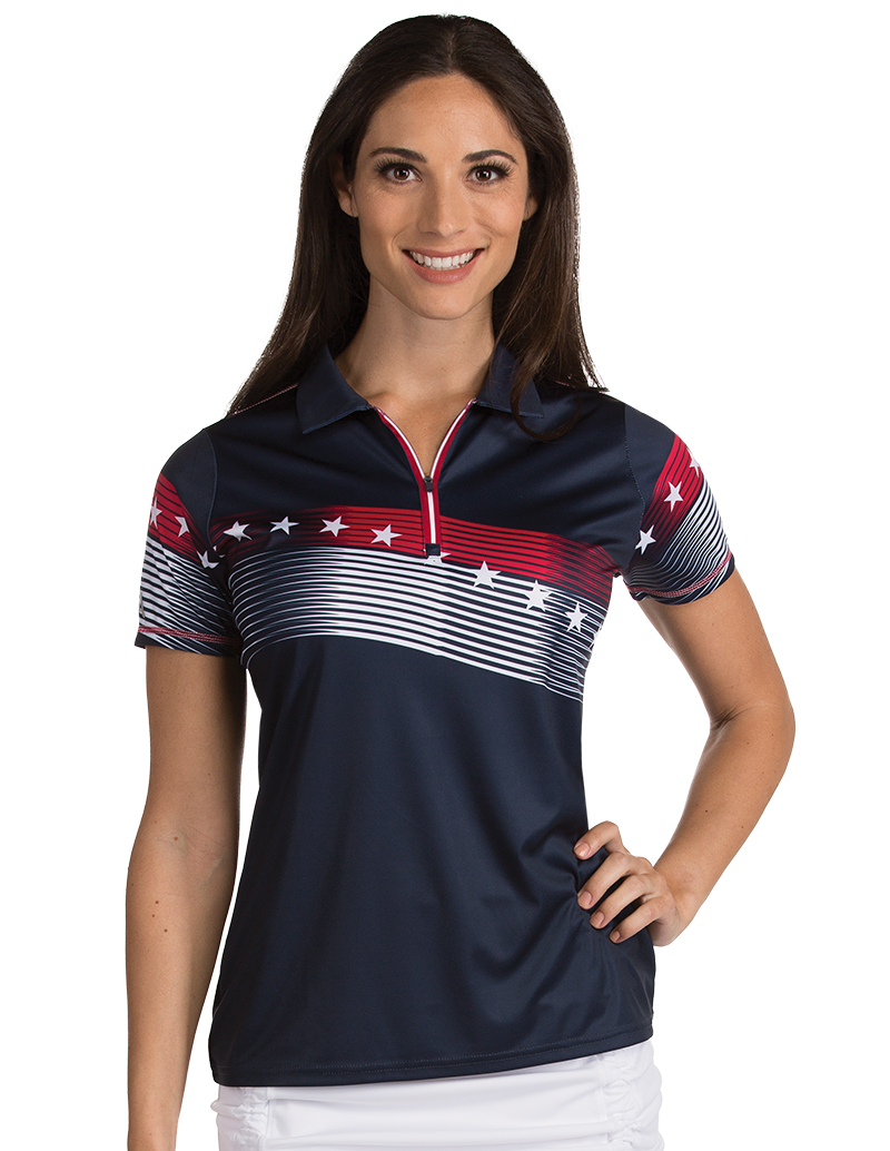 101311_974 Womens Patriot Navy - Dark Red - White