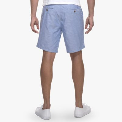 Johnnie-O Merritt Chambray Oxford Short, French Blue