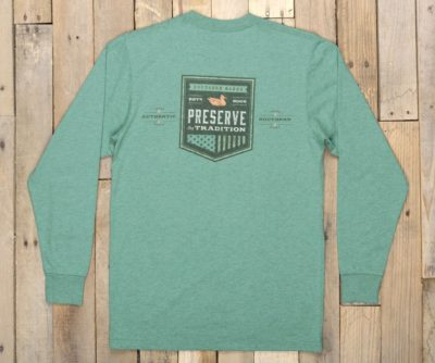 Southern Marsh Southern Tradition Crest Tee, Washed Hunter Green