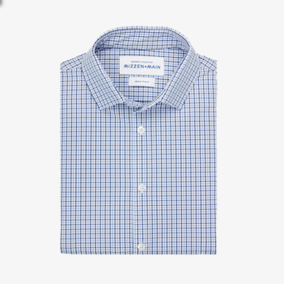 Mizzen & Main Estes Shirt, Navy Lavender