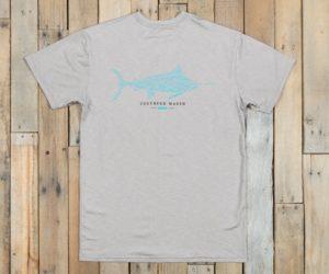 Southern Marsh Fieldtec Heathered Performance Marlin T-Shirt, Light Gray