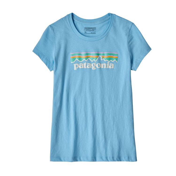 Patagonia Youth Pastel P-6 Logo T-Shirt, Break Up Blue