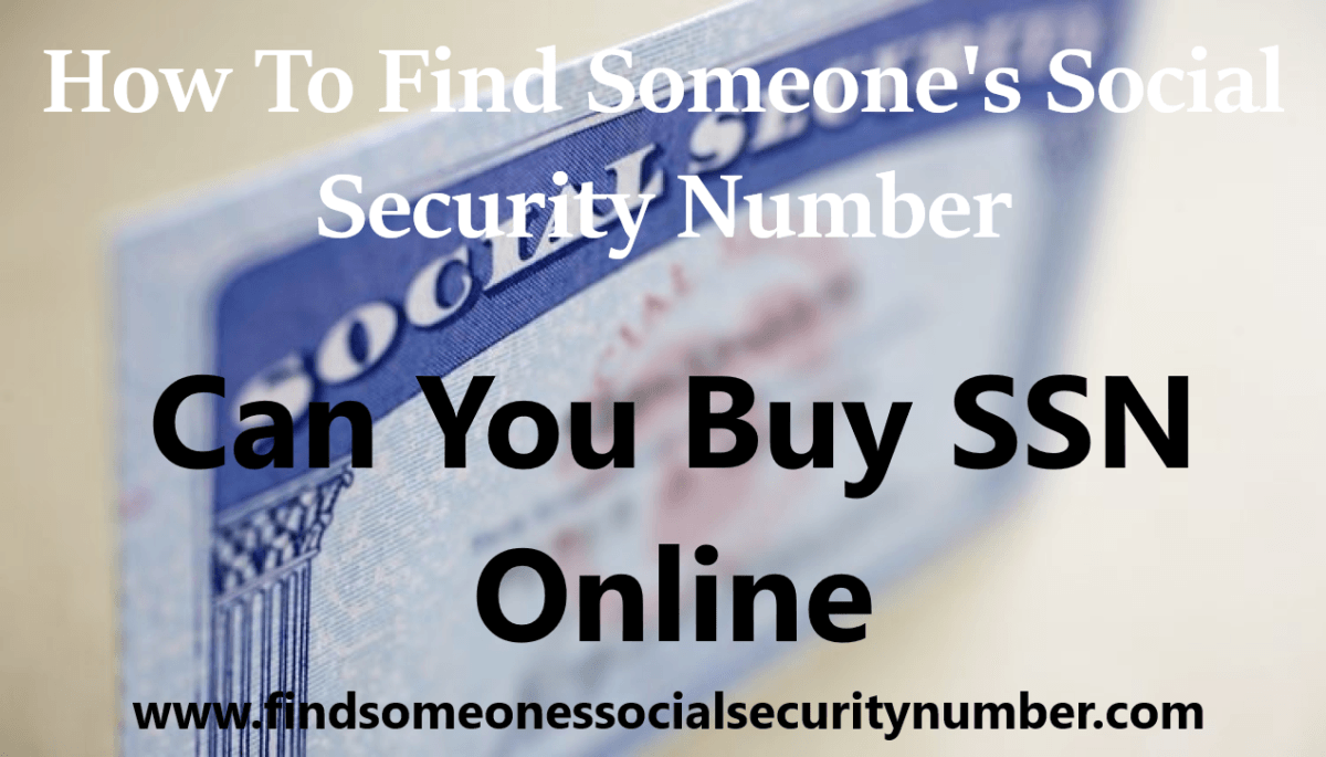 Can You Buy SSN Online?