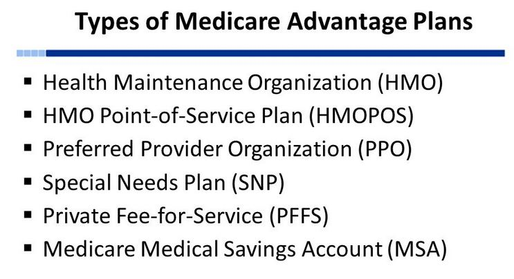 Medicare Advantage Plan Types