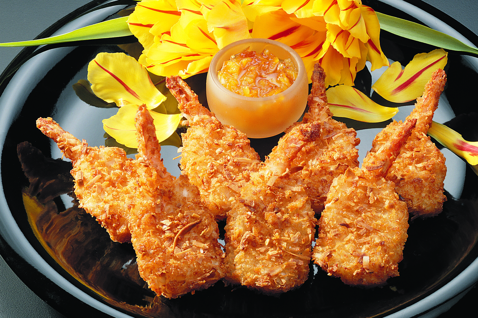 breaded coconut butterfly tail-on