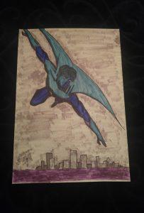 Axiom-man Flying