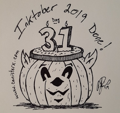 Inktober 2019 Pumpkin Cake