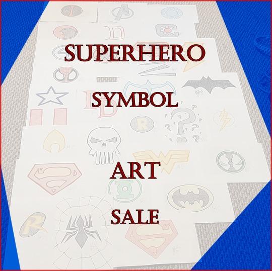 Superhero Symbols Fan Art