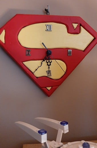 Superman Intarsia Clock